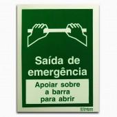 Saída Emergência - Apoiar sobre a barra para abrir