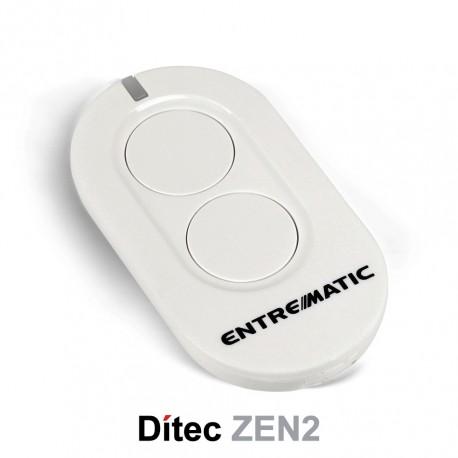 Comando Dítec 2CH 433Mhz Rolling Code ZEN2 Branco