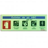 Sinal - Extintor de Pó ABC