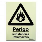 Sinal - Substâncias Inflamáveis