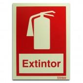 Sinal - Extintor com texto