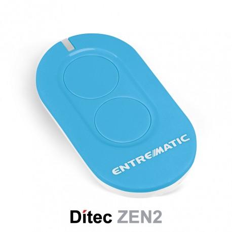 Comando Dítec 2CH 433Mhz Rolling Code ZEN2 Azul