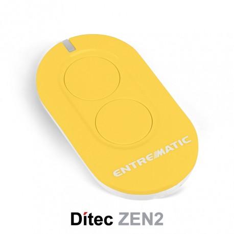 Comando Dítec 2CH 433Mhz Rolling Code ZEN2 Amarelo