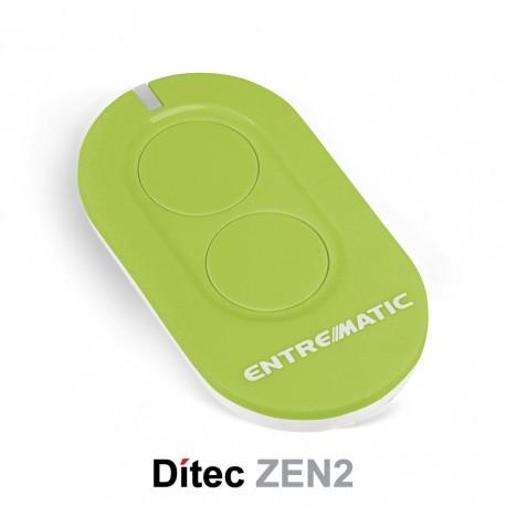 Comando Dítec 2CH 433Mhz Rolling Code ZEN2 Verde
