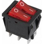 Interruptor On-Off 16A 250V Duplo C/Iluminação