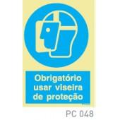 Obrigatorio usar viseira proteçao COVID-19 PC048