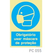 Obrigatorio usar máscara de proteçao COVID-19 PC055