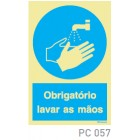 Obrigatorio lavar as mãos COVID-19 PC057