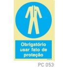 Obrigatorio usar fato de proteção COVID-19 PC053