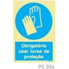 Obrigatorio usar luvas de proteção COVID-19 PC054