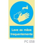 Lave as mãos frequentemente COVID-19 PC058