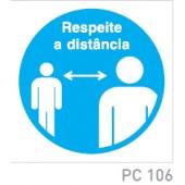 Respeite a distancia COVID-19 PC106