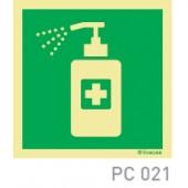 Obrigatorio desinfetar as mãos COVID-19 PC059