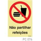 Não partilhar refeições COVID-19 PC076