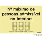 Nº maximo de pessoas admissivel no interior COVID-19 PC081