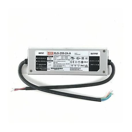 Fonte Mean Well 200W 24V IP67 XLG-A