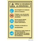 Utilize os Elevadores em segurança COVID-19 PC015