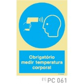 Obrigatorio medir temperatura corporal COVID-19 PC061